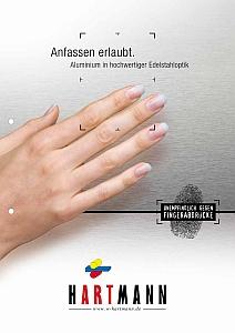 Aluminium in Edelstahloptik Broschüre